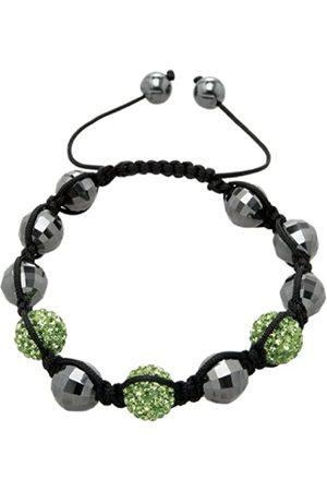 Carlo Monti Damen-Armband Shamballa hellgrün Länge variierbar