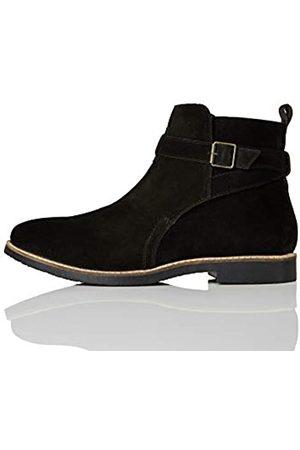 FIND Ethan Jodhpur Chelsea Boots, (Black/Black)
