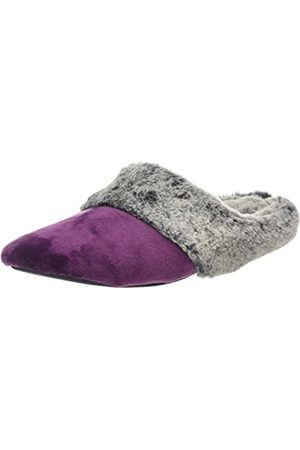 Dearfoams Damen Velour Closed Toe Scuff Pantoffeln, (Aubergine 00765)