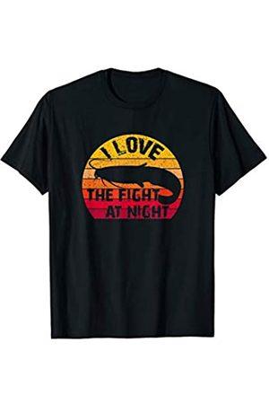 Zielfisch Waller Geschenk für Welsangler I love the Fight at Night Vintage Wels Waller Sportfischer T-Shirt