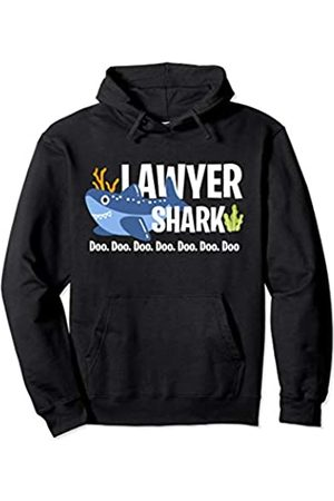 Lawyer Shark Doo Doo Doo Gift Lawyer Shark Doo Doo Doo Student Barrister Law Training Pullover Hoodie