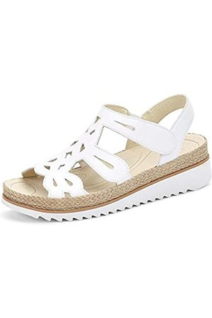 Gabor Shoes Damen Jollys Riemchensandalen, (Weiss 21)