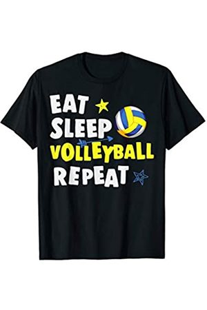 Lustige Volleyball Geschenke Co. Eat Sleep Volleyball Repeat Lustig Fun Volleyball T-Shirt