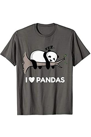 Cute Panda Bear I Love Pandas Sleeping Panda Bear Funny Animal T-Shirt