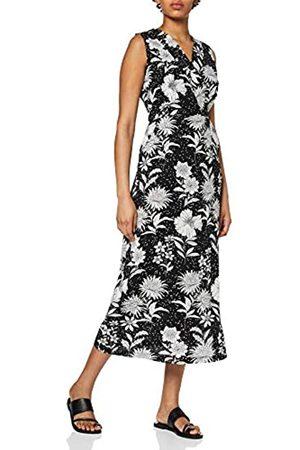 Mela Damen Floral and Spot Print Midi Dress Lässiges Kleid