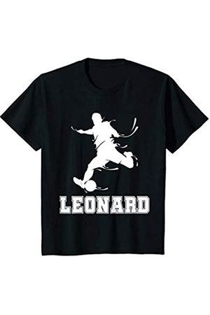 Leonard Name Fußball Geschenke Kinder Fußball Sport Verein Name Leonard Geschenk T-Shirt