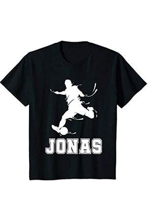 Jonas Name Fußball Geschenke Kinder Fußball Sport Verein Name Jonas Geschenk T-Shirt