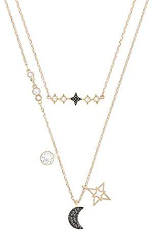Swarovski Symbolic Moon Halskettenset für Frauen, mehrfarbiges Kristall