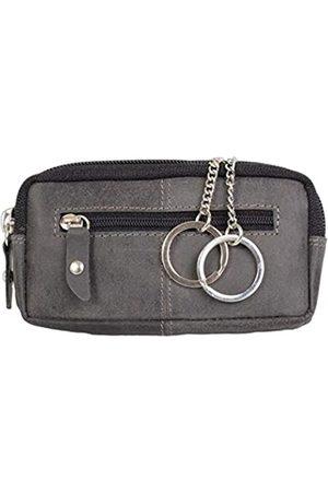 Pride and Soul Schlüsseletui aus Echtleder mit RFID Folie, Schlüsseltasche mit 2 Schlüsselringen und Reißverschluss Hauptfach sowie Zusatzfach, Key Organizer in, Schlüsselmäppchen ca. 12