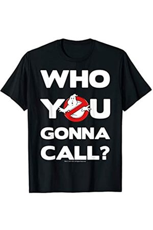 Ghostbusters Who You Gonna Call Bold Text Movie Logo T-Shirt