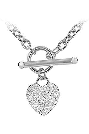 Carissima Gold Damen-Halskette Herz 9 Karat Weißgold Diamant 43 cm - 5.40.4310