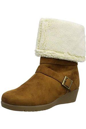 Joe Browns Damen Cosy and Cute Wedge Boots Langschaftstiefel, (Tan A)