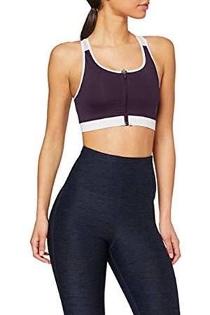 AURIQUE Amazon-Marke: Damen Sport-BH für mittleren Halt mit Reißverschluss, S