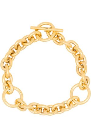 ALL BLUES Triple-loop chain toggle bracelet