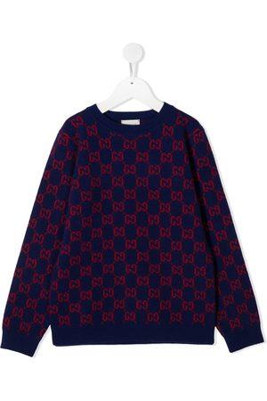 Gucci Intarsien-Pullover mit GG