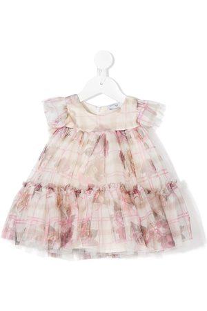 MONNALISA Mädchen Bedruckte Kleider - Tüllkleid mit Teddy-Print