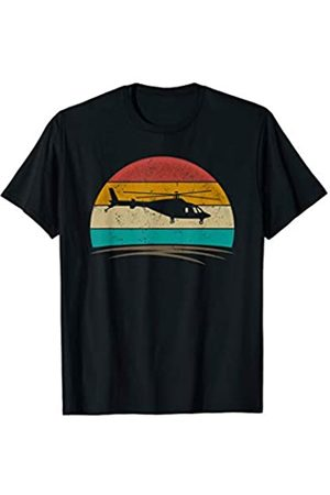 Wowsome! Vintage Helicopter Pilot Retro 70s Distressed Crew Men Women T-Shirt