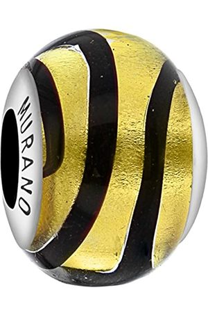 Tuscany Charms Sterling Silver & Black Murano Bead
