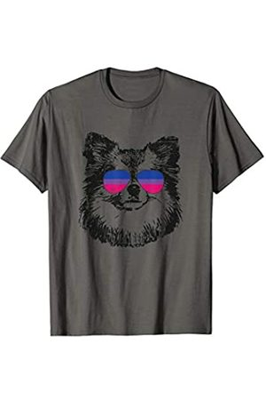 Equal Rights Gay Bisexual Tshirt Designs Bisexuelle Pride Pomeranian Dog LGBT Sonnenbrille T-Shirt