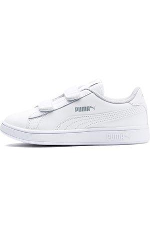 Puma Smash v2 Leder Kinder Sneaker Schuhe