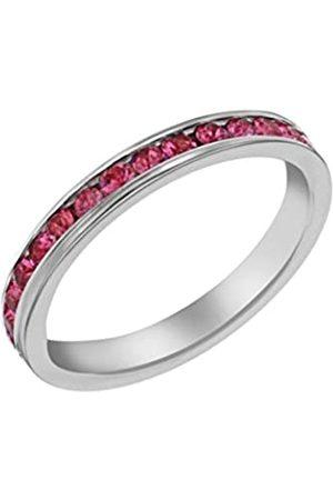Tuscany Silver Damen Sterling Silber Kristallkanal Set Ewigkeit Stacking Ring 57 (18.1) mm