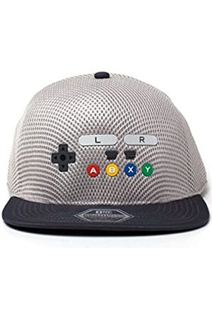 Nintendo Unisex Original SNES Controller Inspired Seamless Flatbill Baseball Cap