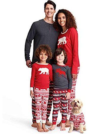 Hatley Little Blue House by Damen Bear & Moose Family Pyjamas Zweiteiliger Schlafanzug, (Women's Jersey Pyjama Leggings-Bear Fair Isle 600)