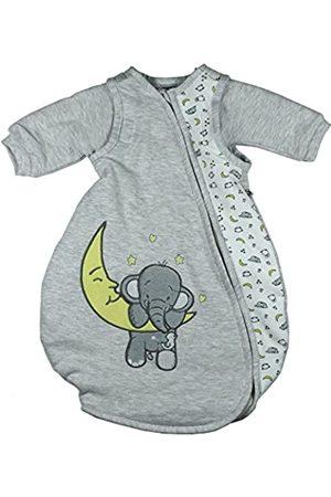 Jacky Baby Ganzjahres Schlafsack Elefant, Mit abnehmbaren Ärmeln, Wattiert, Alter: 6-12 Monate, Größe: 74/80, Farbe: Hellgrau meliert