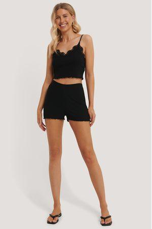 NA-KD Babylock Lounge Shorts - Black