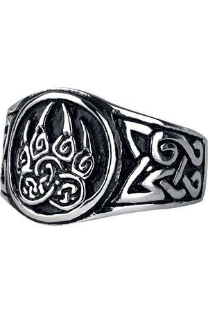 etNox hard and heavy Herren Ringe - Bärentatze Ring silberfarben