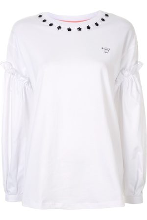 BAPY BY *A BATHING APE® Damen Sweatshirts - Sweatshirt mit Kontrastärmeln