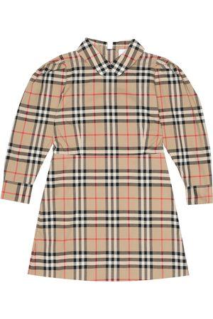 Burberry Kariertes Kleid aus Baumwolle