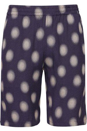 Pins & Needles Poka Dot Cupro Blend Jacquard Shorts