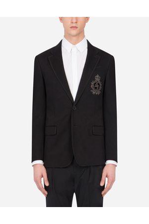 Dolce & Gabbana Herren Blazer & Sakkos - Jacke aus jersey mit patch
