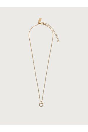 Salvatore Ferragamo Damen Halskette mit Kristallen und Gancini-Detail