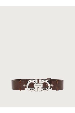 Salvatore Ferragamo Herren Uhren - Herren Leather bracelet with double sided Gancini Dark Brown