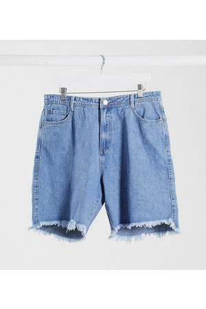 Missguided – Lang geschnittene Denim-Shorts in