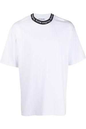 Acne Studios T-Shirt mit Logo-Kragen
