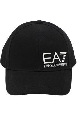 EA7 Baseballkappe Aus Baumwollcanvas Mit Logopatch