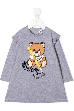 Moschino Kids Baby Freizeitkleider - Sweatshirtkleid mit Teddy-Print