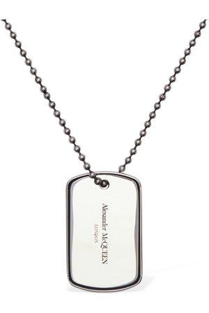 Alexander McQueen Herren Halsketten - Lange Halskette Mit Id-plakette