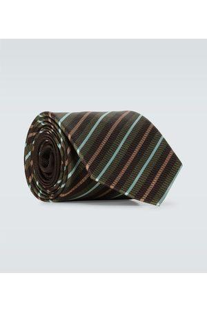 DRIES VAN NOTEN Gestreifte Krawatte aus Seide