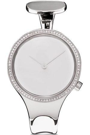 Georg Jensen Vivianna' Armbanduhr mit weißen Diamanten, 34mm