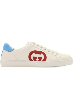 "Gucci Ledersneakers ""new Ace Interlocking Gg"""