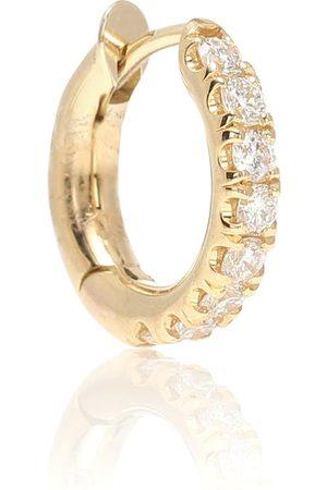 SPINELLI KILCOLLIN Einzelner Ohrring Mini Micro Hoop aus 18kt Gelbgold mit Diamanten
