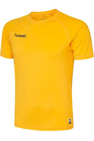 Hummel HML FIRST PERFORMANCE JERSEY S/S, SPORTS YELLOW, S