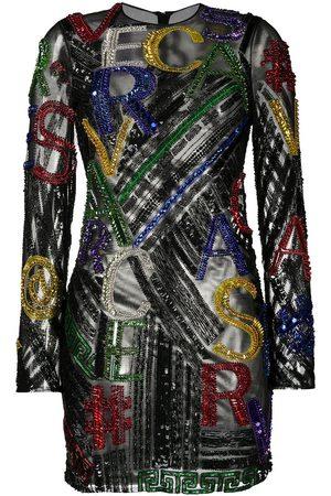 VERSACE Damen Freizeitkleider - Minikleid mit Pailletten-Logo