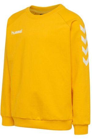 Hummel Sweatshirt aus Baumwolle mit sportlichem Look und sportlichen Ärmelchevrons, SPORTS YELLOW, 116