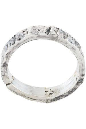 EMANUELE BICOCCHI Strukturierter Silberring