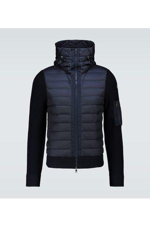 Moncler Jacke Tricot aus einem Wollgemisch